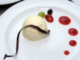 Dessert food named panacotta cake